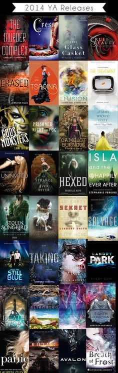 Upcoming YA releases, via raininginparis.com