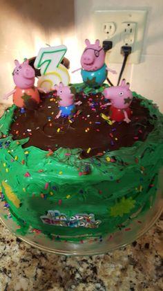 Jens Blendz DIY Three Layer Peppa Pig Muddy Puddle Cake