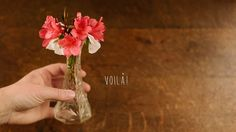 Azaleas and pansies in a petite vase will brighten up her day! A perfect addition to breakfast in bed that she can enjoy all day! Watch the video for more Valentine's Day DIY ideas.