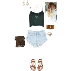 """""""high waisted shorts outfit"""" by hedgessheridan on Polyvore"""