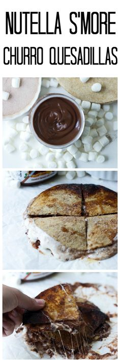 Nutella Smore Churro Quesadillas - Cooking for Keeps