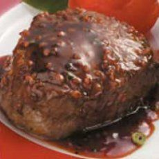 """Sweetheart Steaks Recipe -""""I created this recipe when I was planning a steak dinner and wanted a barbecue sauce to go with it. Try the sauce on pork and chicken,"""" says Dolores Jensen of Arnold, Missouri. Beef Steak Marinade, Cooking Venison Steaks, Cooking Pork Roast, Venison Recipes, Venison Meals, Steak Marinades, Cooking Turkey, Deer Recipes, Game Recipes"""