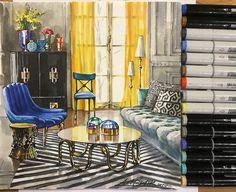 #ArtRi4ik #sketchmarkers #sketch #sketching #sketchmarkersclub #stabilo #sakura #artefly #interior #sketchinterior #jonathanadler ______________________________________________________________Джонатан Адлер (Jonathan Adler) — один из самых знаменитых дизайнеров Америки и неподражаемый мастер эклектики. Сам он определяет свой стиль как Modern American Glamour. «Я приветствую любые тренды в дизайне. Кроме разве что таксидермии — она наводит на грустные мысли. Мы живем в эпоху под названием…