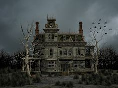 Haunted House Premade Background by Roys-Art.deviantart.com on @DeviantArt