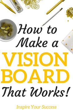 I am so glad I finally learned how to make a vision board that really works! I loved creating my first vision board and love looking at it every morning. This made me so inspired!