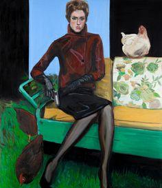 "Saatchi Art Artist Hrvoje Majer; Painting, ""Chicken Dominatrix"" #art"