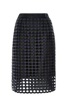 { Giant Eyelet Pencil Skirt }