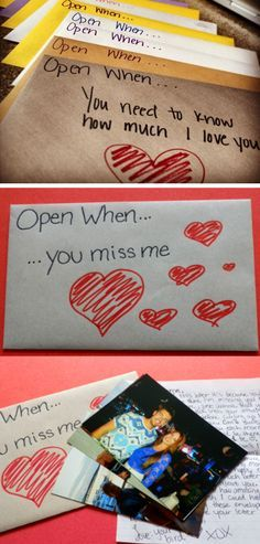 Open When Envelope Ideas | Click Pic for 44 DIY Valentine Gifts for Him | DIY Valentine Gifts for Boyfriend                                                                                                                                                                                 More