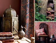 First printed in 1868-70, Indian wallpaper and fabric was originally printed as a wallpaper for Morris by Jeffrey & Co, and is a highly stylised interpretation of an 18th century indienne pattern.