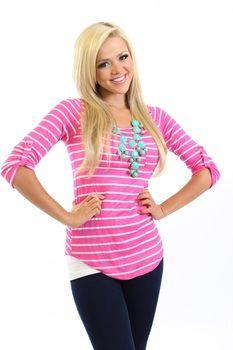 striped basic top