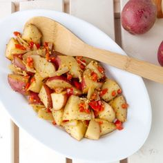 Crockpot Italian Potatoes- Easy Dinner!
