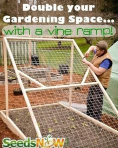There are almost an unlimited number of diy garden projects enjoyed by people around the world but at the lead of the list consistently is gardening. Veg Garden, Garden Trellis, Edible Garden, Garden Planters, Lawn And Garden, Vine Trellis, Garden Items, Garden Bed, Garden Gifts