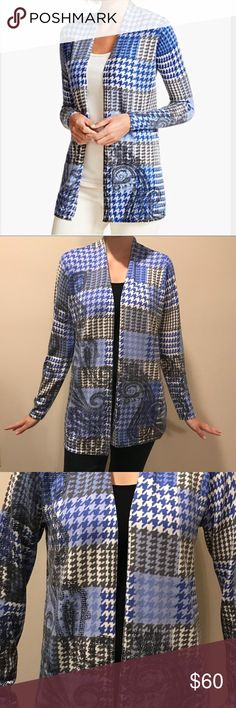 Talbots Paisley and Plaid Cardigan This Talbots is hand spun Pure Merino wool in a gorgeous paisley and plaid print. Perfect for fall/winter. This one is NWT's Retails for 120 Talbots Sweaters