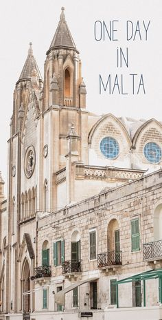 One day in Malta is not enough! But rather one than nothing? Have a look at the things to do and areas to explore, if you only have one day in Malta. One Day, Malta, Notre Dame, Barcelona Cathedral, Holiday Ideas, Explore, Building, Travel, Viajes