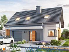 Dom w borówkach (GN) Home Office Design, House Design, Modern Bedroom, Planer, House Plans, Pergola, Sweet Home, Real Estate, How To Plan