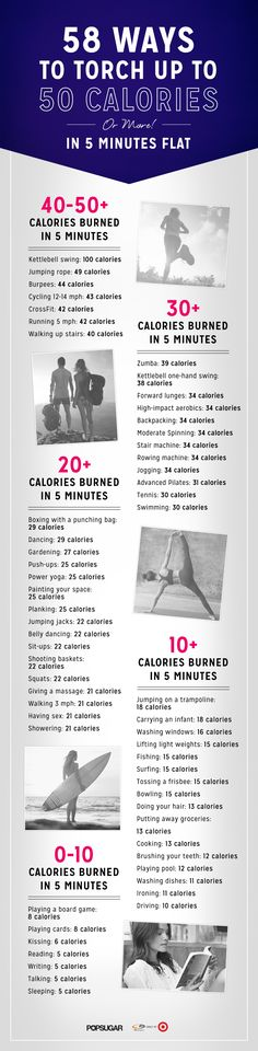 58 Ways to Torch up to 50 Calories (or More!) in 5 Minutes Flat