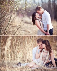 Cute couples pose.