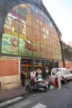 Atarazanas Farmers' Market in Malaga, Spain.
