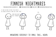Finnish Nightmares That Every Introvert Will Relate To Life Is Good, My Life, Comic, Small Talk, Introvert, Infj, Slice Of Life, Nice To Meet, Fun Facts