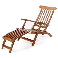 All Things Cedar Teak Steamer Chair