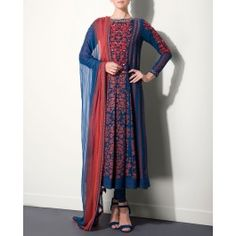 Navy Blue Suit by AM:PM #Anarkali #KurtaSet #Prints #Dress #Quirky #Motifs #Embroidery #Floral #Black #Brown #India #Blue #Fuchsia #Designer #Indian #Luxury #Ethnic #DesignerWear #Fashion #AnkurModi #PriyankaModi #ExclusivelyIn #AMPM #Style