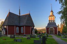 Övertorneå kyrka från 1700-talet i norra Sverige