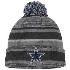 Mens Dallas Cowboys New Era Gray Sport Cuffed Knit Hat Dallas Cowboys Funny, Dallas Cowboys Outfits, Cowboys 4, Cowboy Outfits, Dallas Cowboys Football, Football Team, Cowboy Gear, Cowboy Hats, Cowboys Apparel