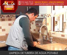 Limpieza de tubería agua potable