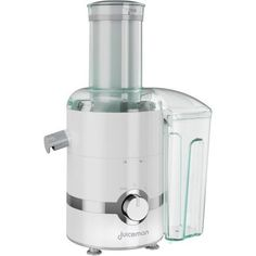 Juiceman 3-In-1 Total Juicer and Blender with Citrus, JM3000, White