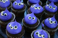Monster Mash Birthday Bash! ~ Monster Cake, Spiderweb Cookies, Pumpkin and Bat Sugar Cookies, Orange Devil's Food Cupcakes, Spiderweb Chocolate Cake, Mini Alien Cupcakes and Ghost Rice Krispie Pops!