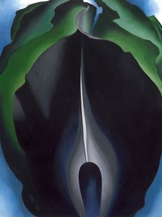 Jack-in-the-Pulpit No. IV (1930). Georgia O'Keeffe. Oil paint on canvas