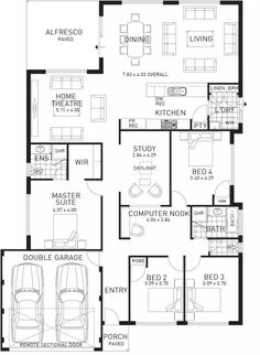Beach House Single Storey Home Design Floor Plan WA Floor