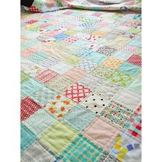 quilted low volume quilt by croskelley, via Flickr
