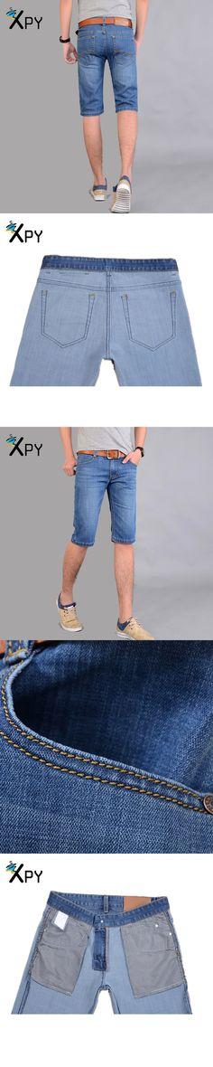Summer Men's Jeans Korean Casual Pants New Men's Shorts Blue Does Not Contain The Belt Men's Solid Color Short Pants
