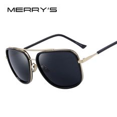 Men Square Sunglasses Classic Brand Designer Sunglasses Double-Bridge Shades UV400 Halloween Promotion