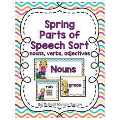 Spring Parts of Speech Sort