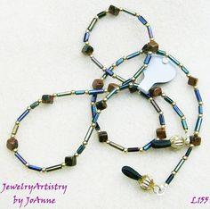 Handmade Eyeglass Chain/Lanyard  Mahogany by JewelryArtistry, $12.00
