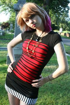 Black/red DIY shirt