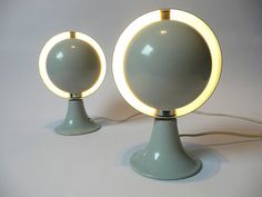 Vintage Saturn table lamps, 1970s