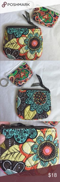 Vera Bradley items! Vera Bradley coin purse and keychain pouch! Both cone together! Coin purse is 5.5x4 inches. New without tags! The keychain is 4x3 inches and in excellent condition! Vera Bradley Bags Wallets