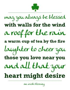 {Printables} An Irish Blessing for St. Patrick's Day