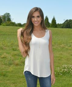 In LOVE with ivory?! We can't get over how great this color looks with any denim! Simple is always stunning!