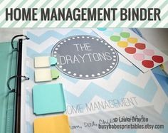 Household Management Binder Kit - Home Management Binder - Over 50 Organizing Printables - INSTANT DOWNLOAD via Etsy