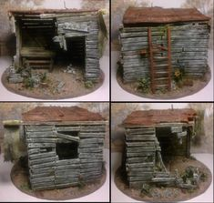 How to make a wooden hut from (mostly) sprue. Such fantastic work!