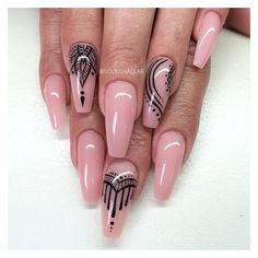 Coffin nails @KortenStEiN ❤ liked on Polyvore featuring beauty products, nail care, nail treatments and nails