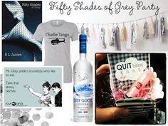 Image sources: Book , Charlie Tango T-Shirt , Garland ,   Confetti , Some E Cards,   Grey Goose, Party Favor Unless my lady ...