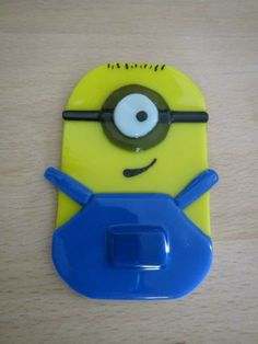 Fused Glass Minion Christmas Ornament