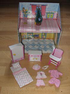 zapf creation baby born miniworld house folding playset 8 rm mini doll house exc creative. Black Bedroom Furniture Sets. Home Design Ideas