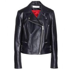 Victoria Beckham Denim Joan Leather Biker Jacket (1,560 CAD) ❤ liked on Polyvore featuring outerwear, jackets, coats & jackets, blue, moto jacket, real leather jackets, rider jacket, blue motorcycle jacket and blue biker jacket