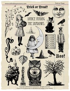 Trick or Treat Rubber Stamp Collection by Oxford Impressions.